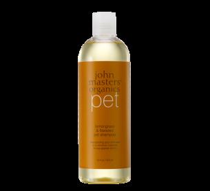 John Masters Organics Lemongrass & Flaxseed Pet Shampoo 有機香茅和亞麻籽寵物洗髮及沐浴露 毛茸茸寵物朋友適用 16oz