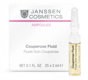 Janssen Cosmetics Couperose Fluid  退紅補水安瓶 25 x 2ml 適合紅血絲、過敏紅腫的肌膚
