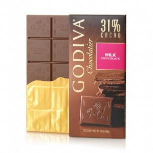Godiva 31% 牛奶巧克力朱古力磚 100g