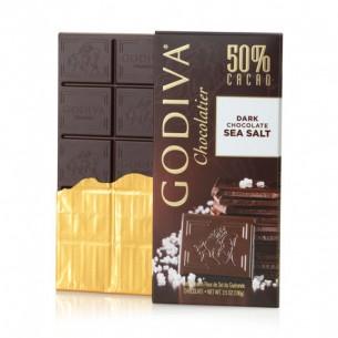 Godiva 50%海鹽黑巧克力朱古力磚 100g