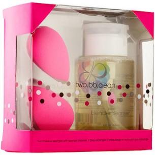 beautyblender® 粉紅美妝蛋 x 2 以及 5oz 的專用清潔液套裝