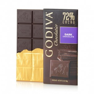 Godiva 72% 經典黑巧克力朱古力磚 100g